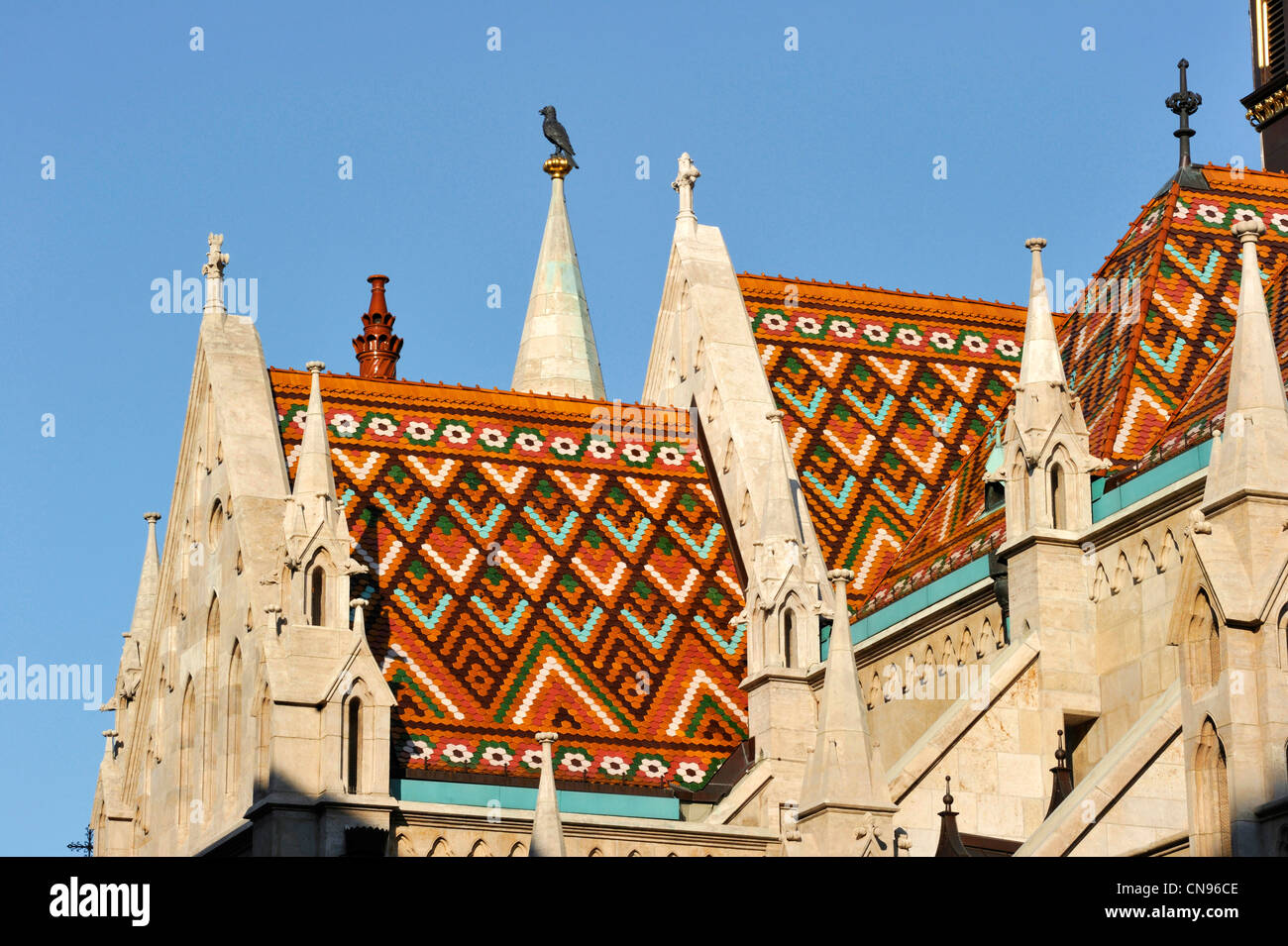 Hungary, Budapest, Buda district, Saint Mathias church, Castle Hill listed as World Heritage by UNESCO - Stock Image