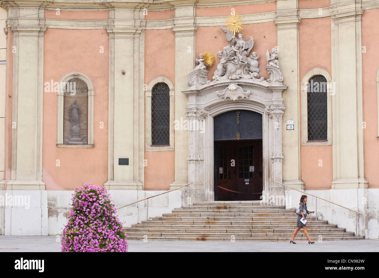 Slovakia, Bratislava, Trinity church, built in the beginning of the 18th century - Stock Image