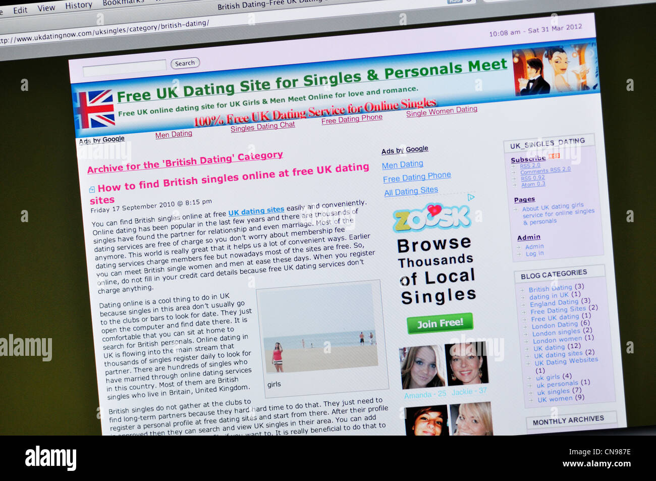Dating website categories