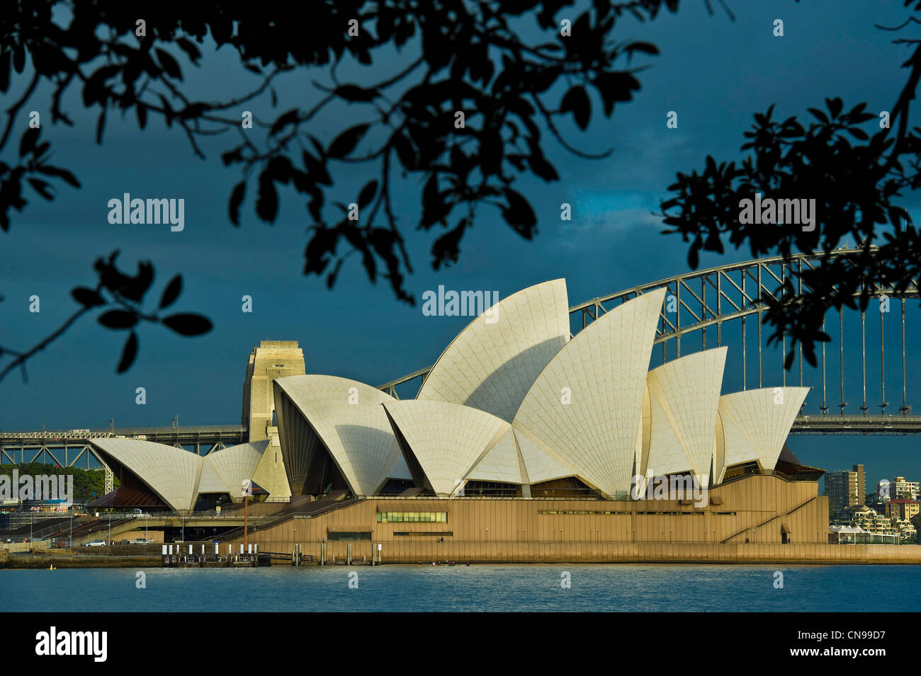 Australia, New South Wales, Sydney, The Sydney Opera House by the architec Jørn Utzon listed World Heritage - Stock Image