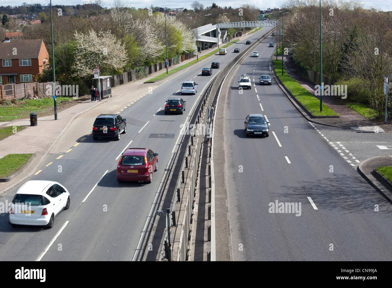 Dual carriageway, Edgware Way, Watford By-Pass, Barnet, England, UK - Stock Image