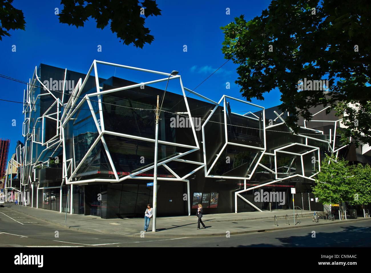 Australia, Victoria, Melbourne, Melbourne Recital Center designed by architect Ashton Raggatt McDougall and opened - Stock Image
