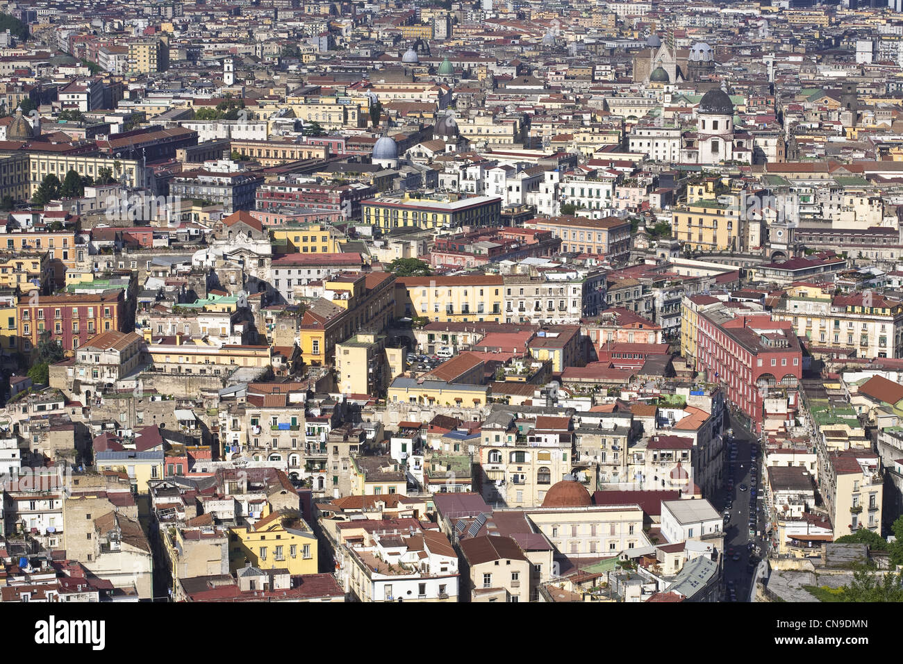 Italy, Campania, Naples, view over the Historic center (listed as World Heritage by UNESCO) from San Martino Charterhouse - Stock Image