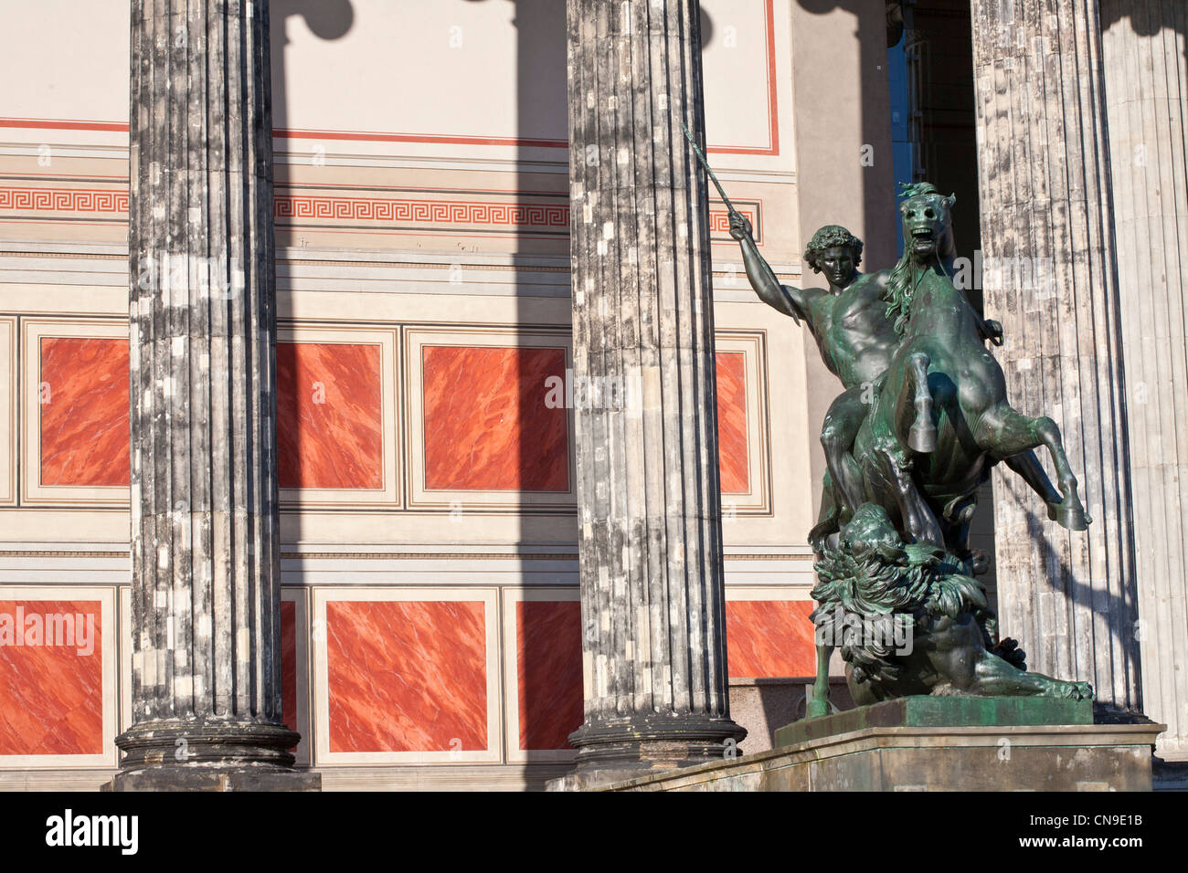 Germany, Berlin, Museum Island, Altes Museum, home to a collection of ancient works, building erected in 1828 by - Stock Image