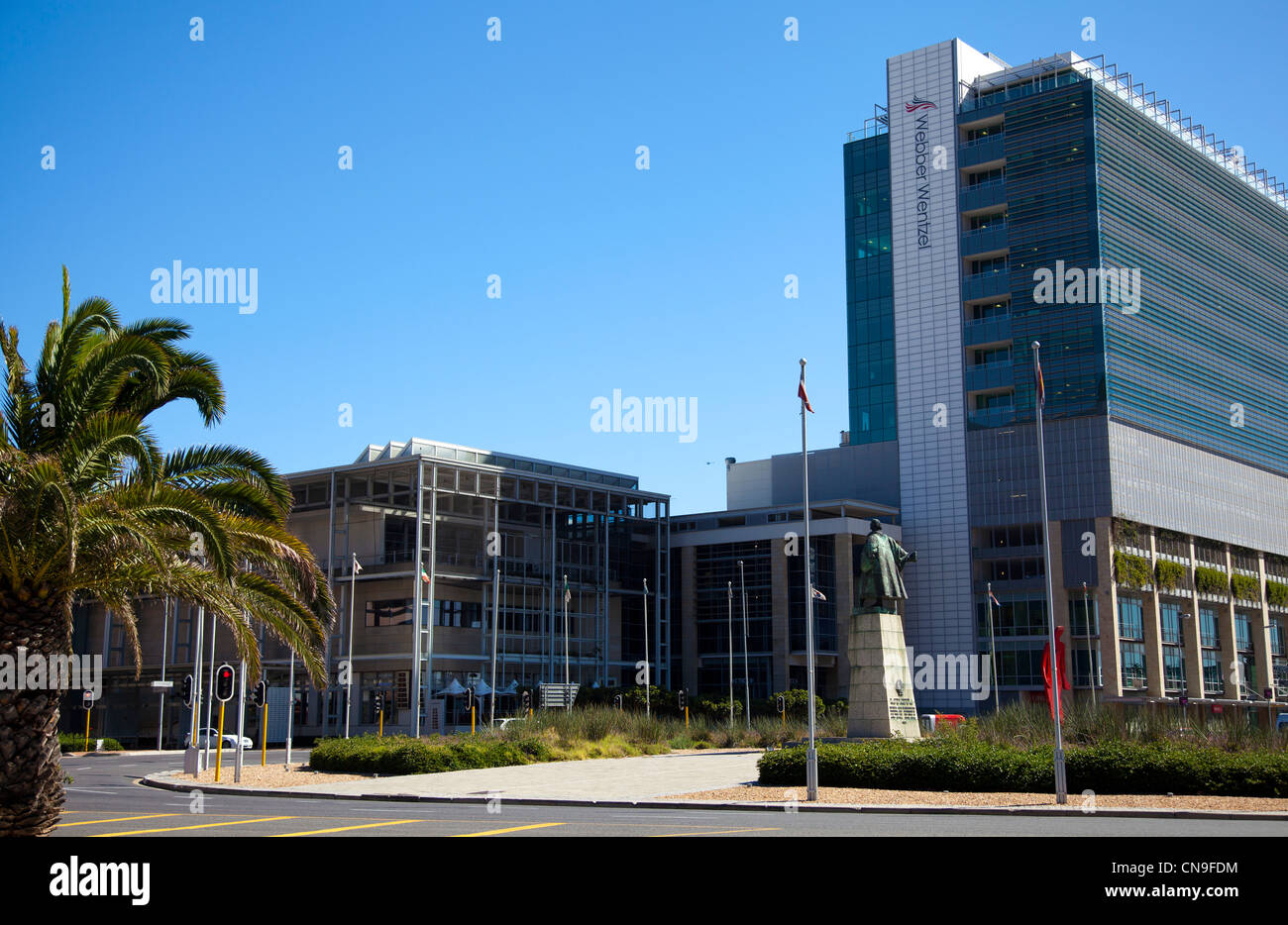 Heerengracht Roundabout in the Foreshore in Cape Town - Stock Image