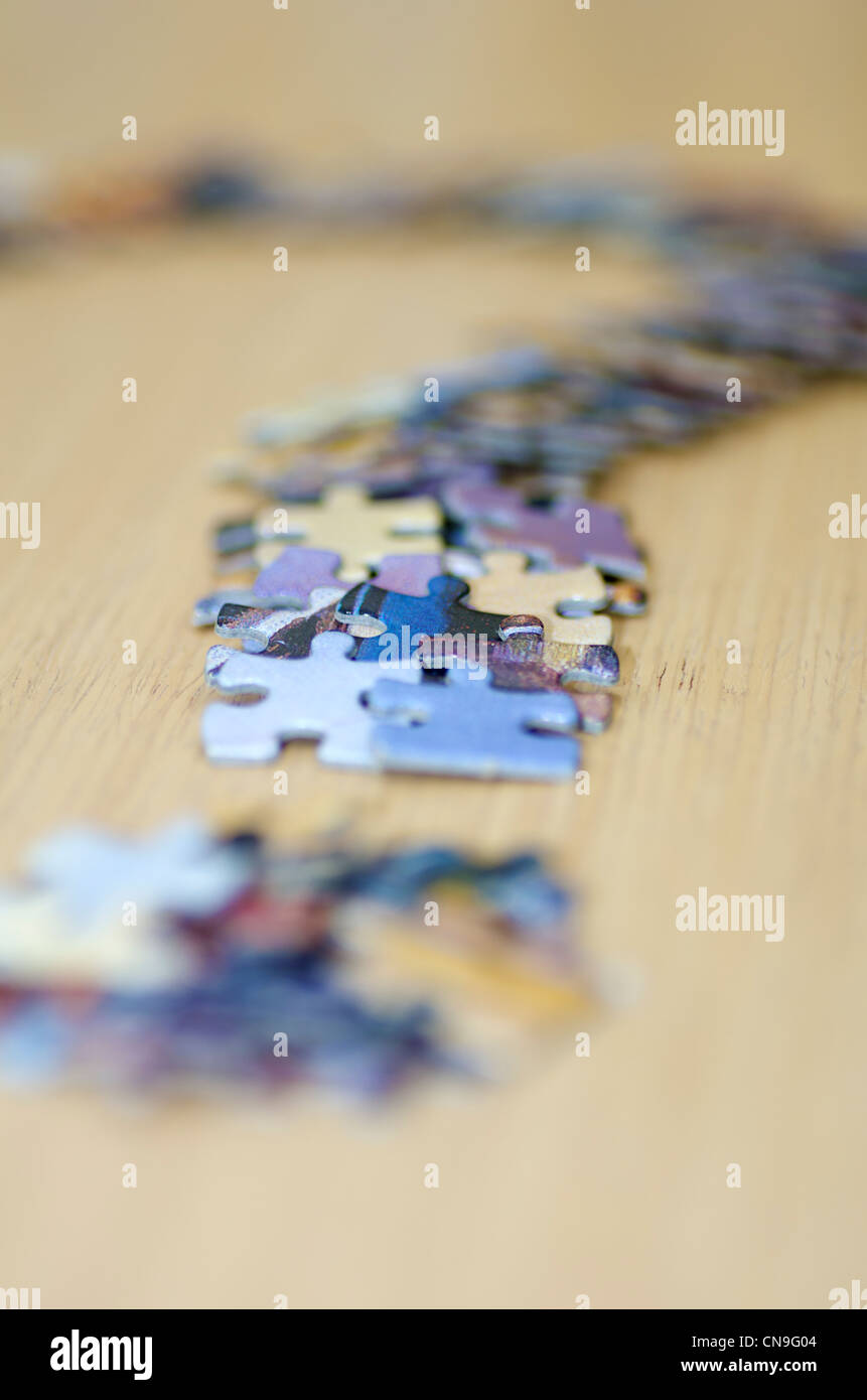 Jigsaw Question Mark - Stock Image