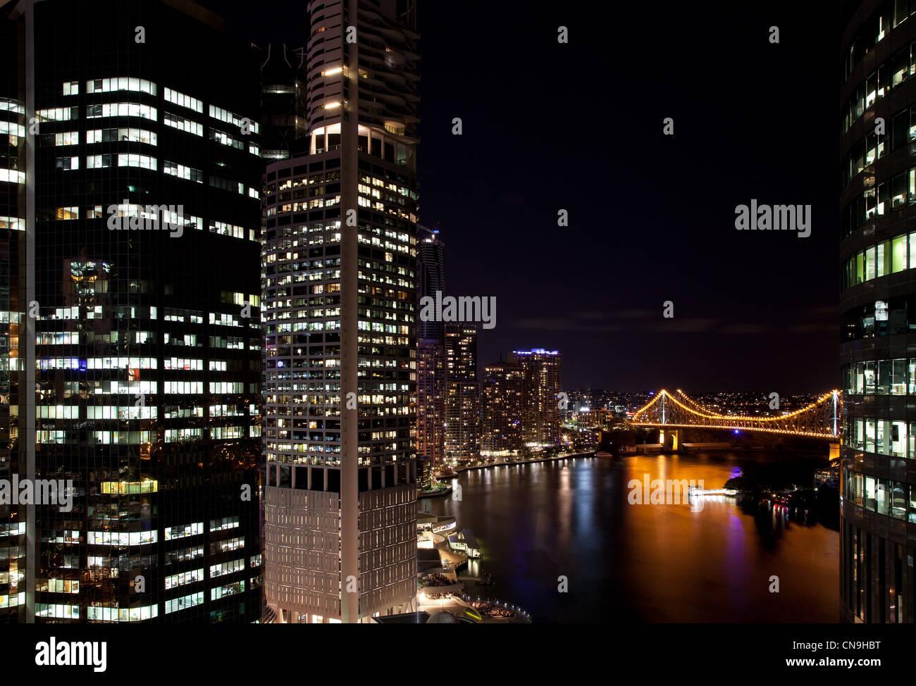 Skyline of Brisbane, Australia - Stock Image