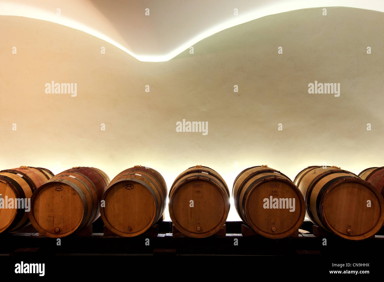 France, Vaucluse, Luberon, Lourmarin, Maison Tardieu Laurent, The Big Country houses, wine-tasting cellar - Stock Image