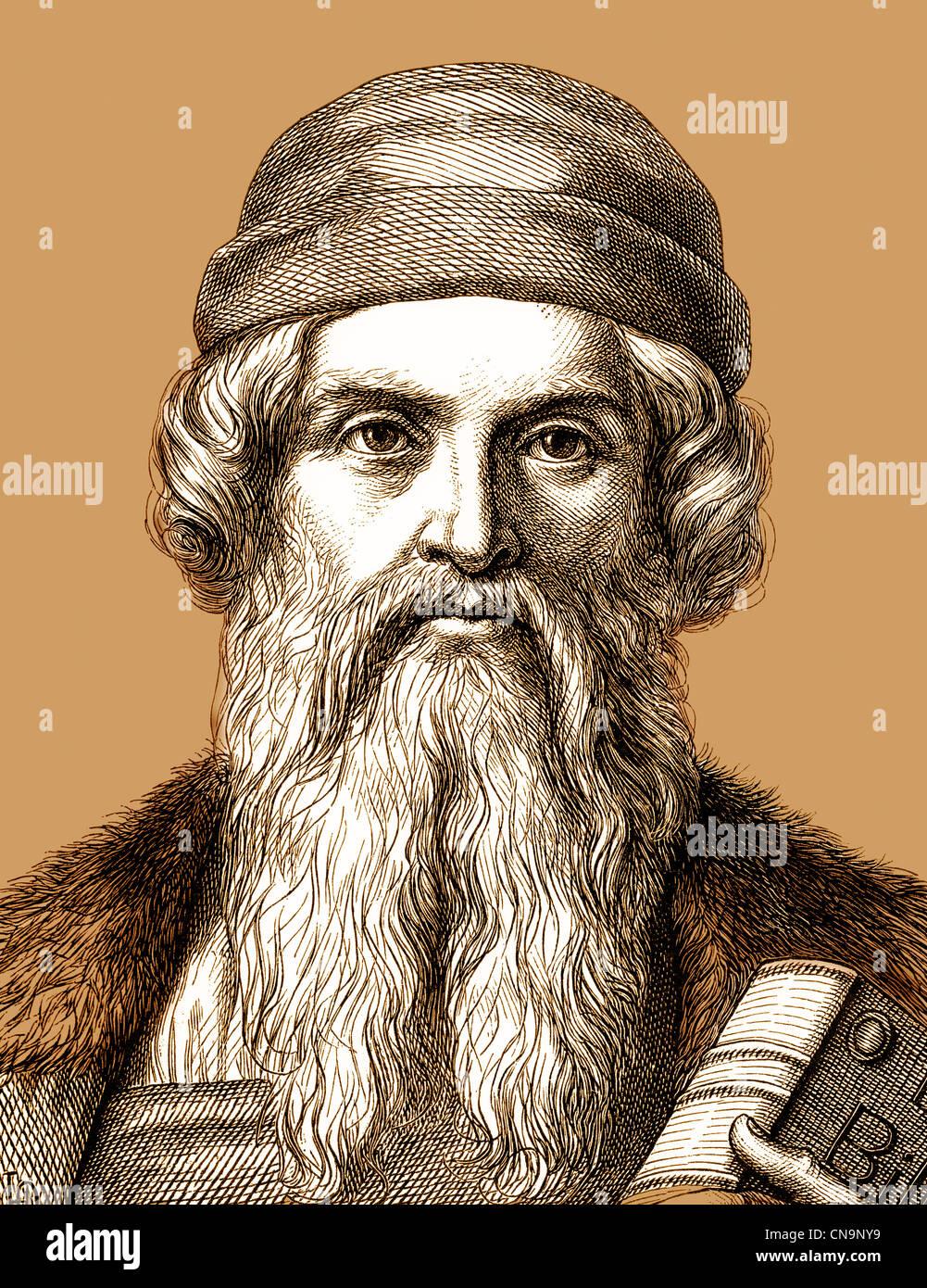 Johannes Gensfleisch Zur Laden Zum Gutenberg Circa 1400