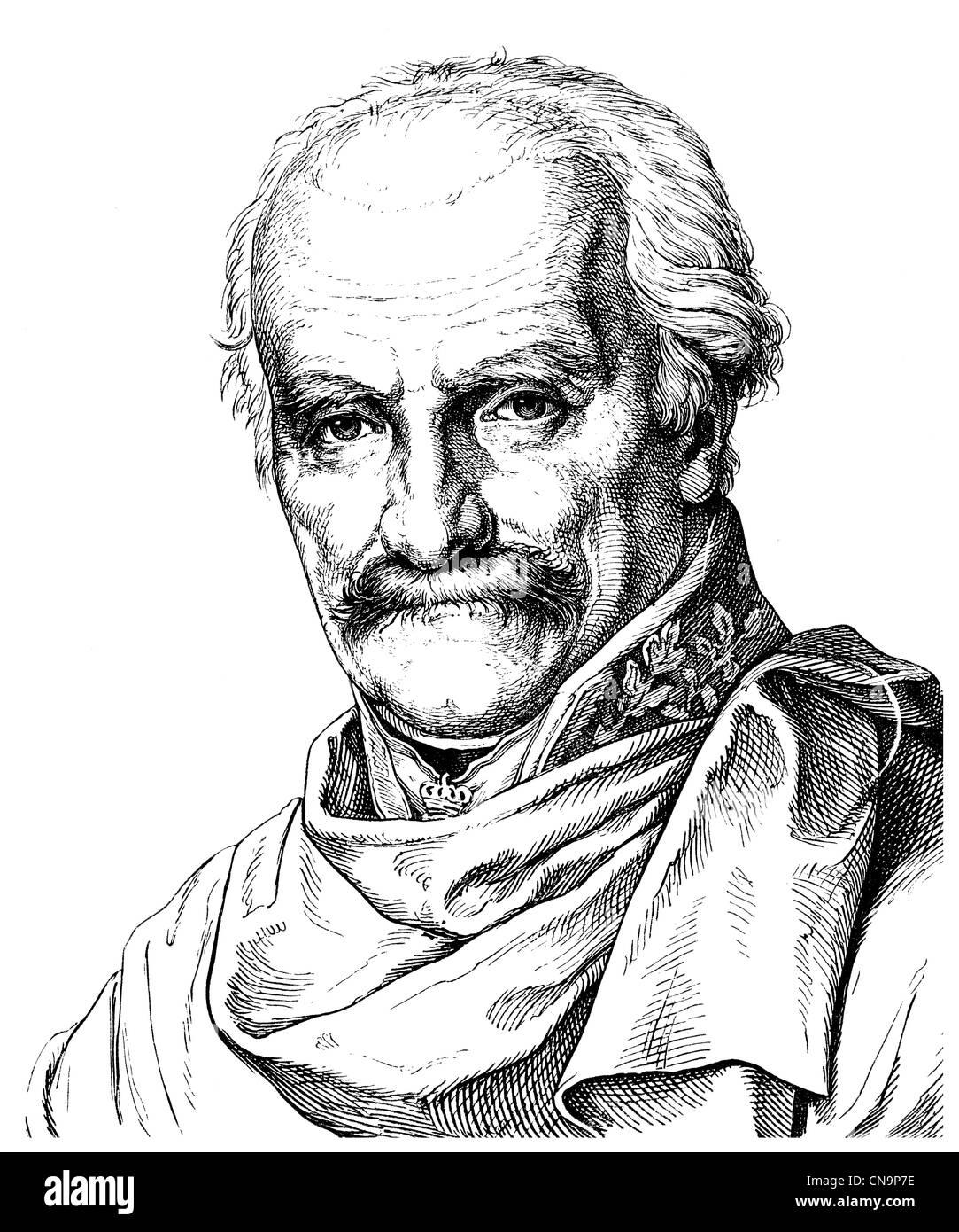 Gebhard Leberecht von Bluecher, Prince of Wahlstatt or Marshal Forward, 1742 - 1819, a Prussian Field Marshal Stock Photo