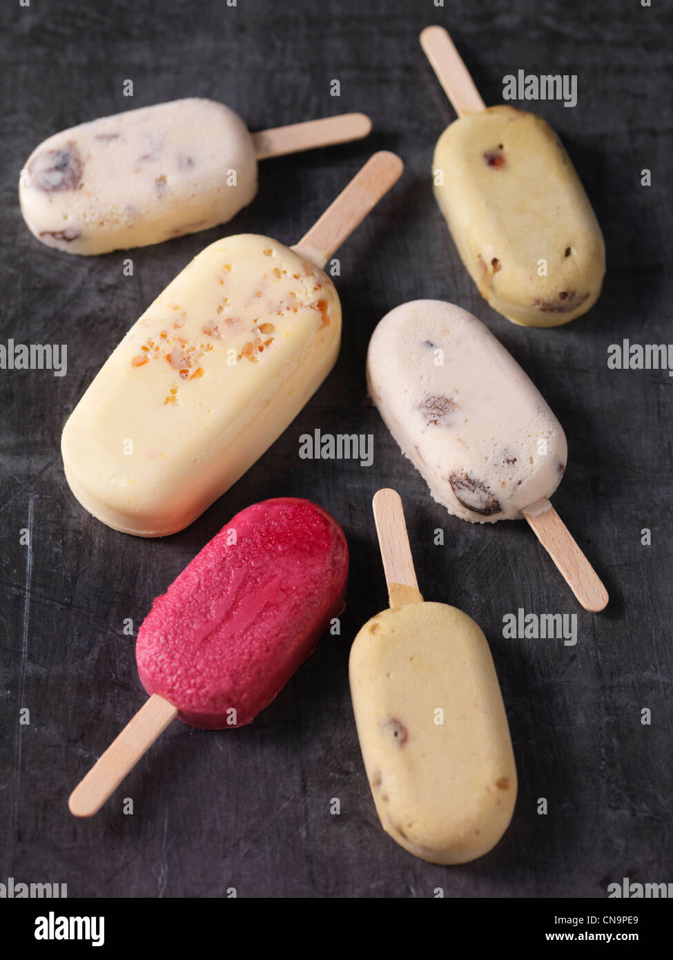 Variety of ice cream bars - Stock Image