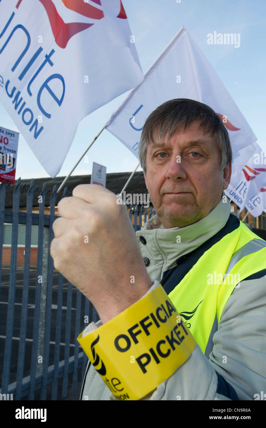 Unite Pickets during the N30 day of action, Leeds - Stock Image