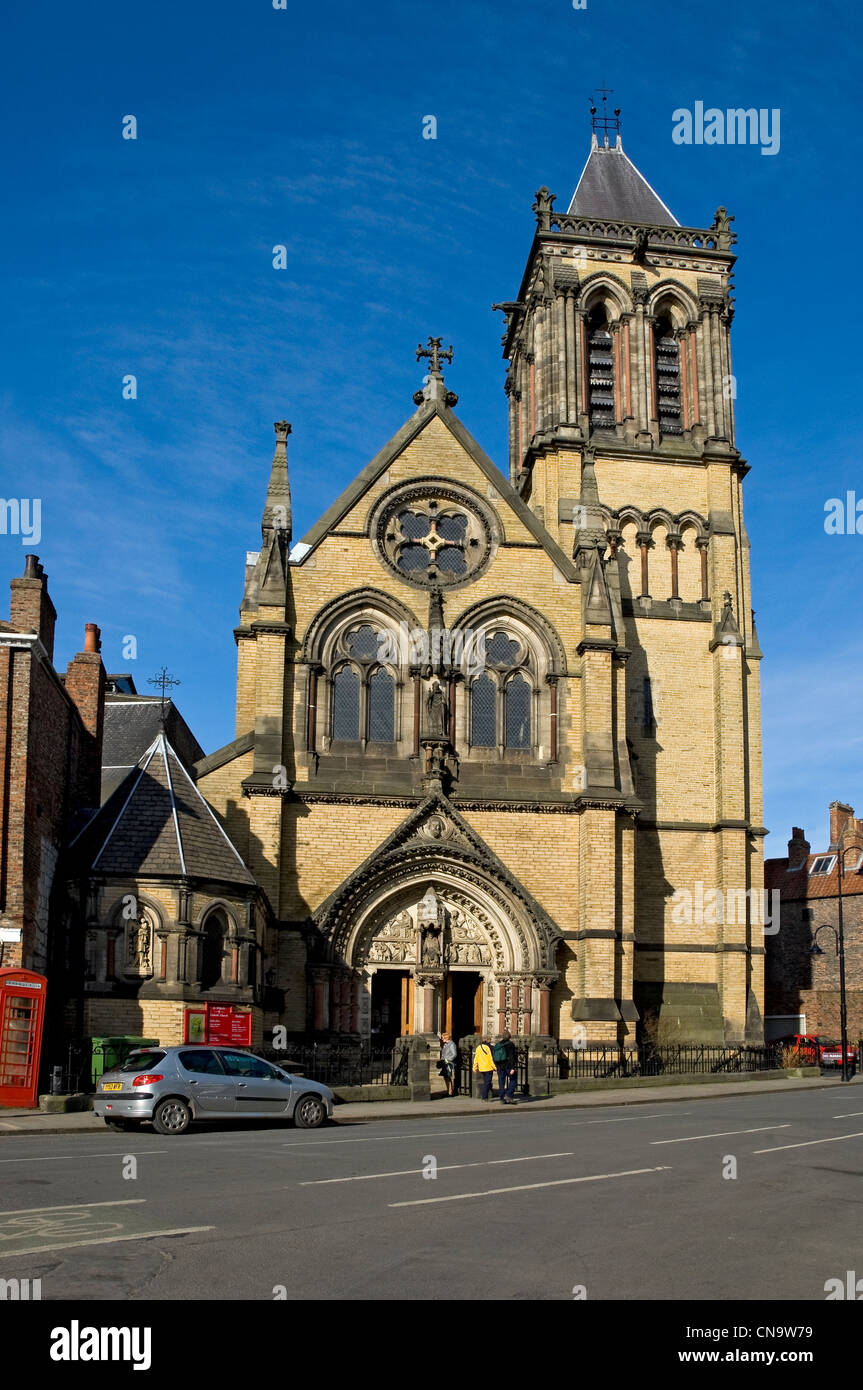 St Wilfrid's Church (Victorian Gothic) Duncombe Place York North Yorkshire England UK United Kingdom GB Great - Stock Image
