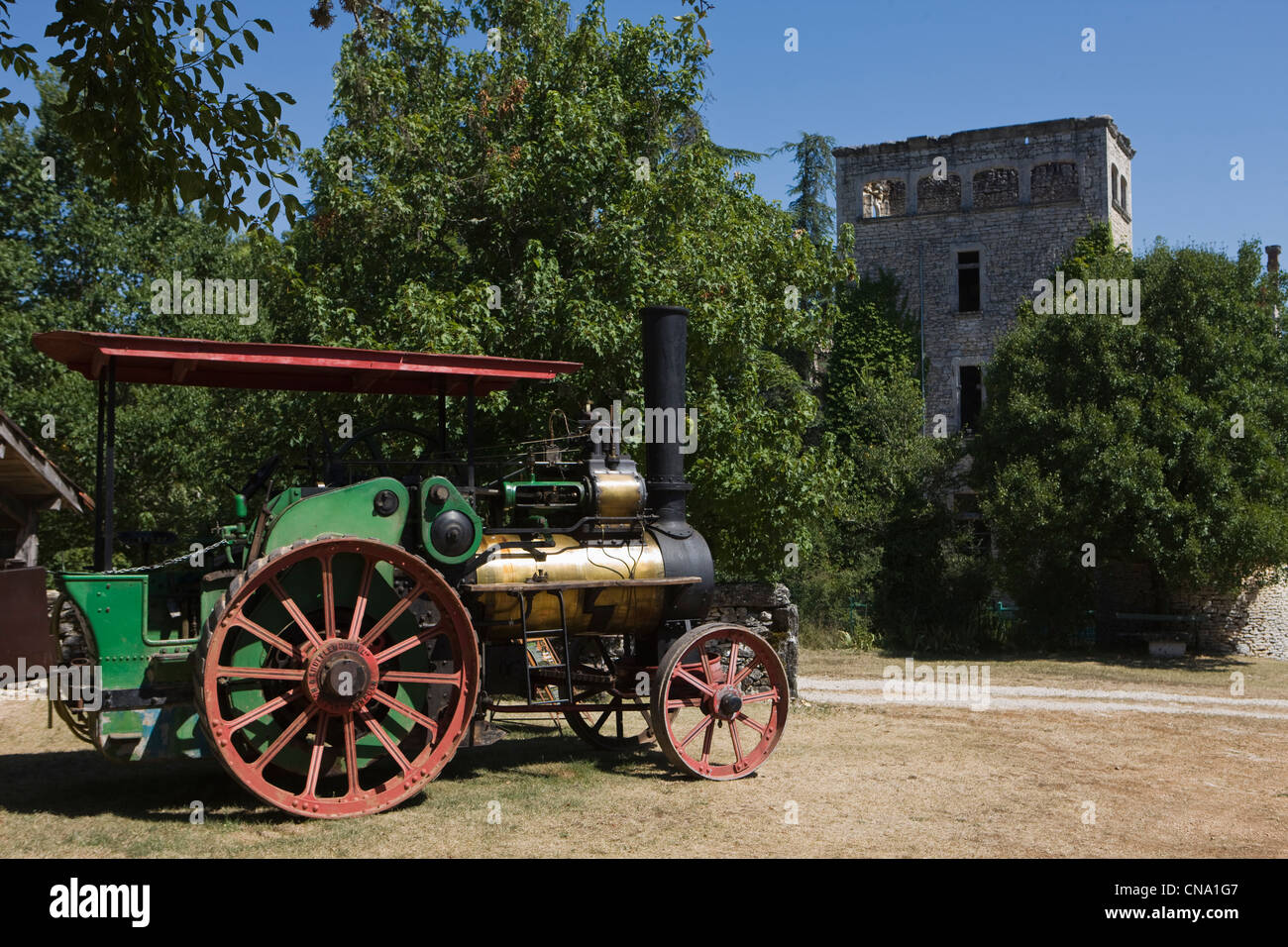 France, Lot, around Sauliac sur Cele, Cuzals, Open Air Museum of Quercy, Chateau Stock Photo