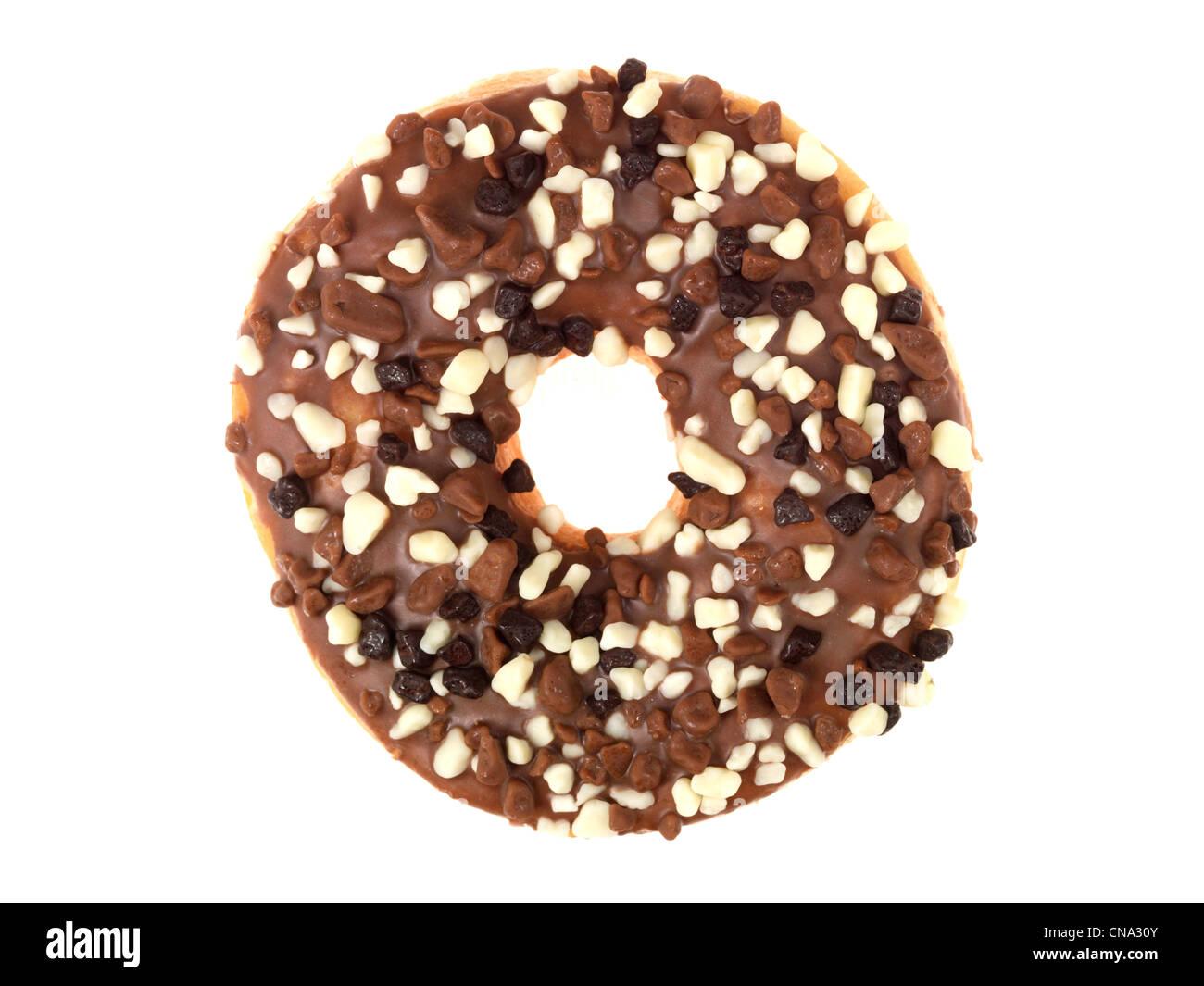 Chocolate Covered Donut Stock Photo