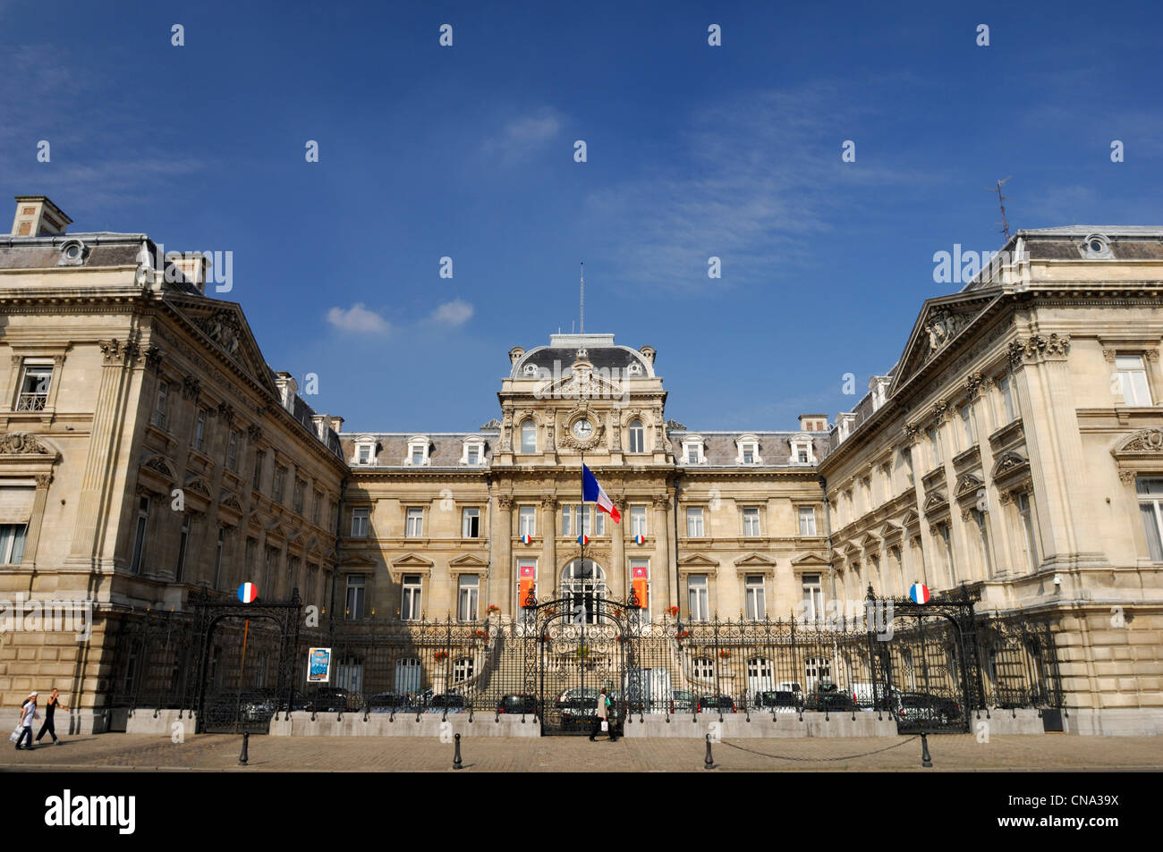 France, Nord, Lille, Republic square, the Prefecture of Lille on the Republic square - Stock Image
