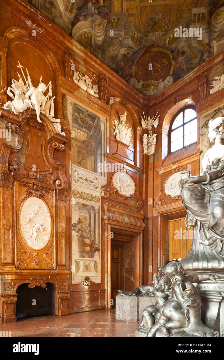 Austria, Vienna, Belvedere Palace Baroque directed by Johann Lukas von Hildebrandt in the early 18th century, lived - Stock Image