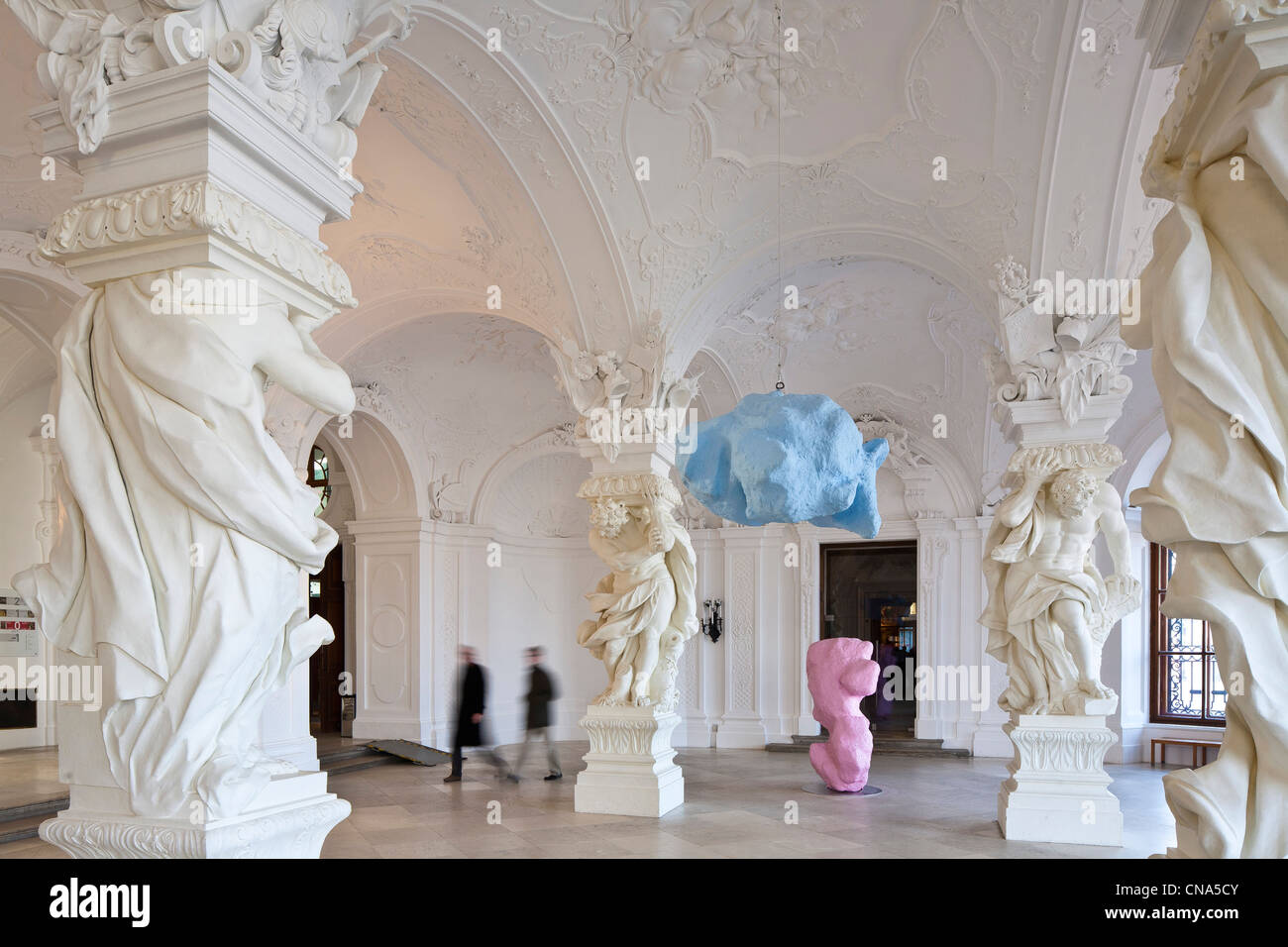 Austria, Vienna, Belvedere Palace Baroque directed by Johann Lukas von Hildebrandt in the early 18th century, Upper - Stock Image
