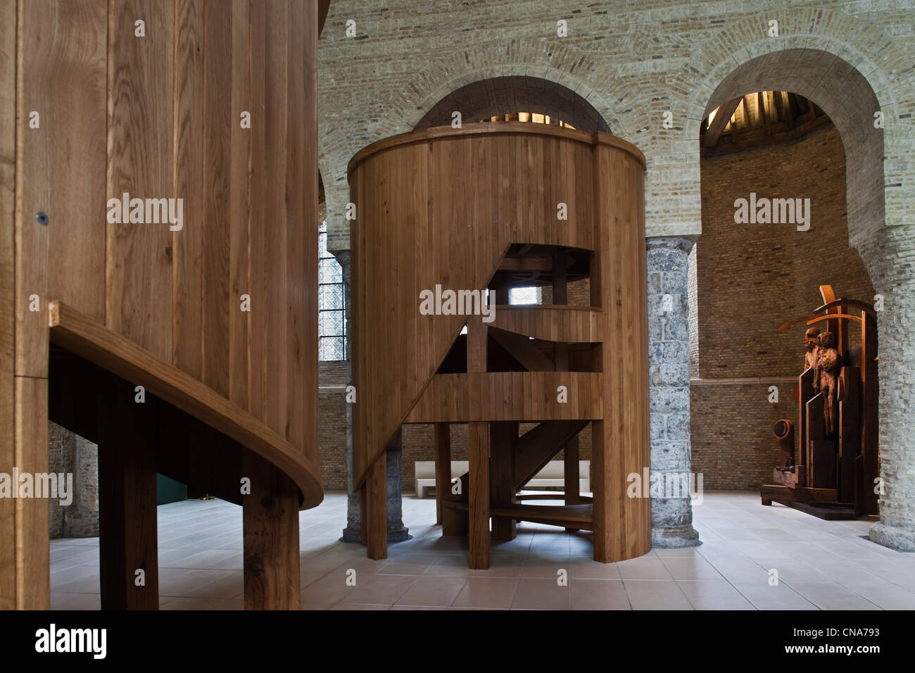 France, Nord, Bourbourg Church, Choeur De Lumiere (Light Choir) By Anthony