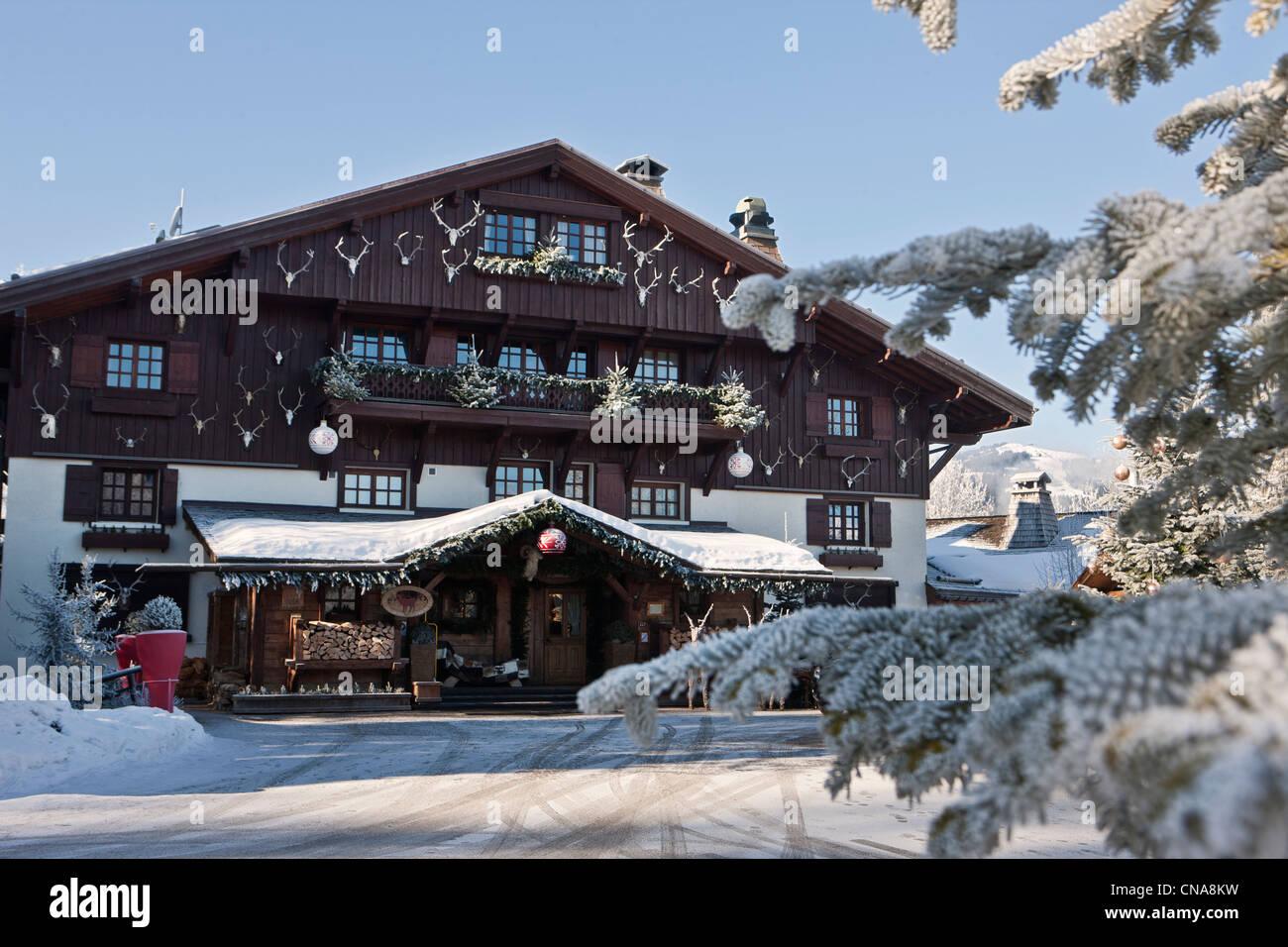 France, Haute Savoie, Megeve, the Chalet du Mont d'Arbois - Stock Image