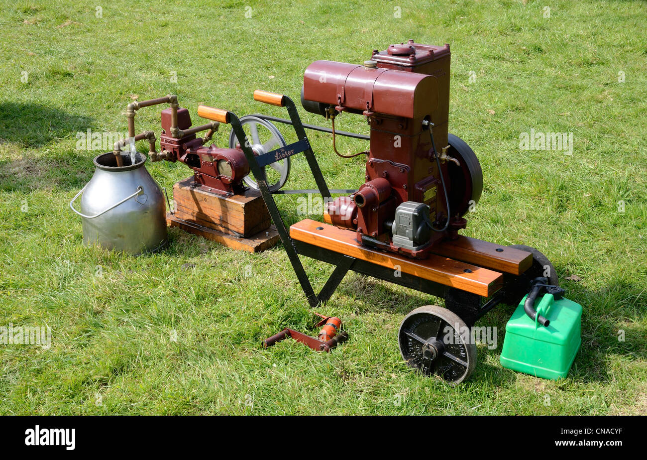 A vintage steam water pump at a country fair near Redruth in Cornwall, UK - Stock Image