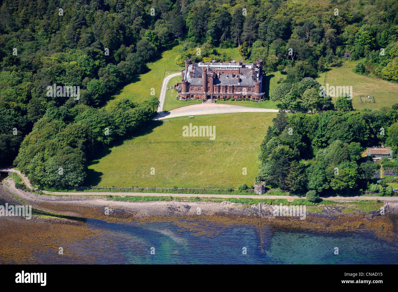 United Kingdom, Scotland, Highland, Inner Hebrides, Isle of Rum, Kinloch Castle was constructed by the millionaire - Stock Image