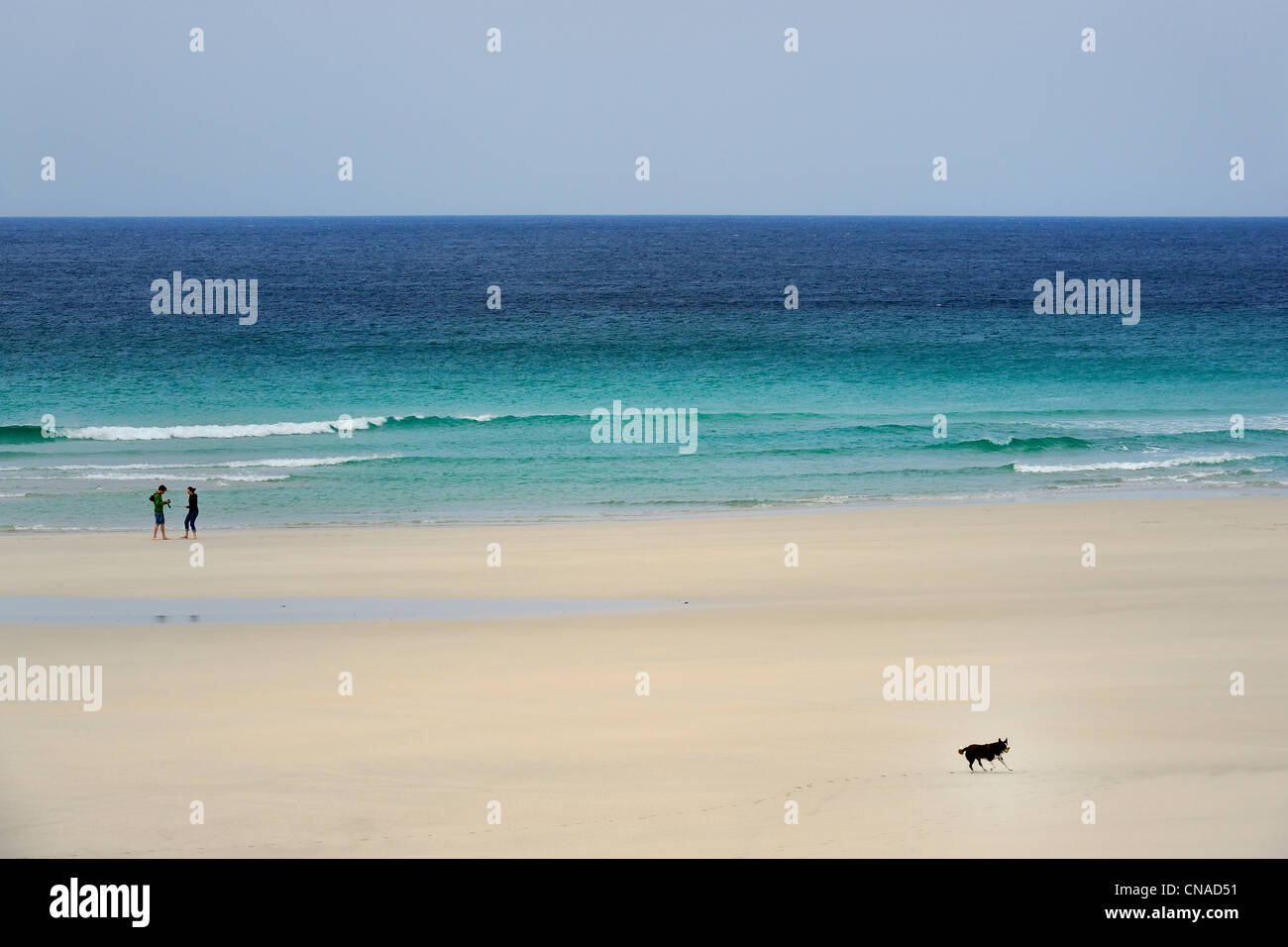 United Kingdom, Scotland, Outer Hebrides, Isle of Barra, beach behind the Barra airport - Stock Image