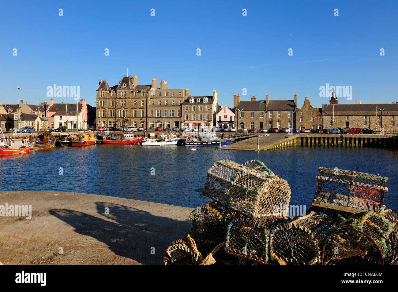 United Kingdom, Scotland, Orkney Islands, Mainland, Kirkwall fishing harbour - Stock Image