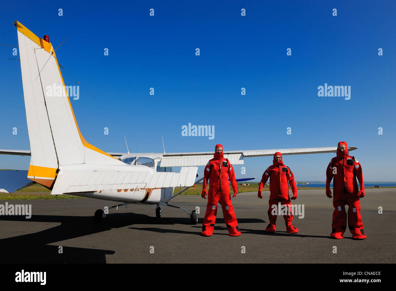 United Kingdom, Scotland, Orkney Islands, Mainland, Kirkwall airport - Stock Image