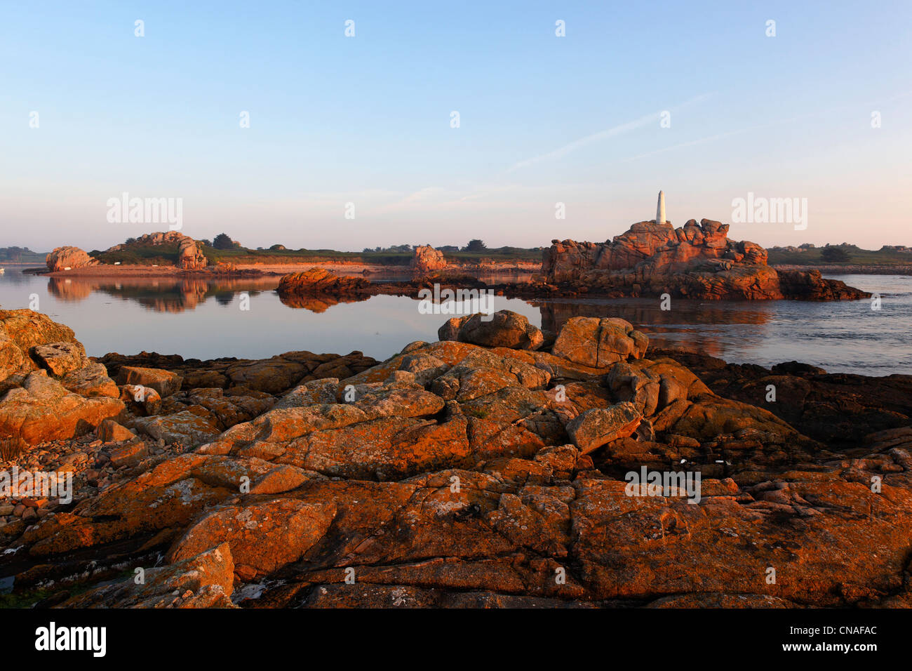 France, Cotes d'Armor, Brehat island, ar Morbic island - Stock Image