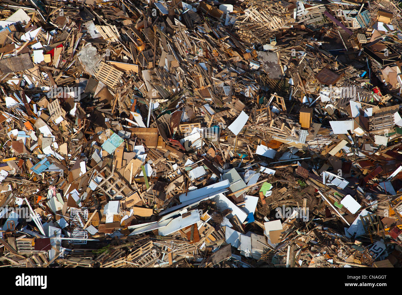France, Eure, La Chapelle Reanville, landfill site, waste storage compartment ordinary household and industrial - Stock Image