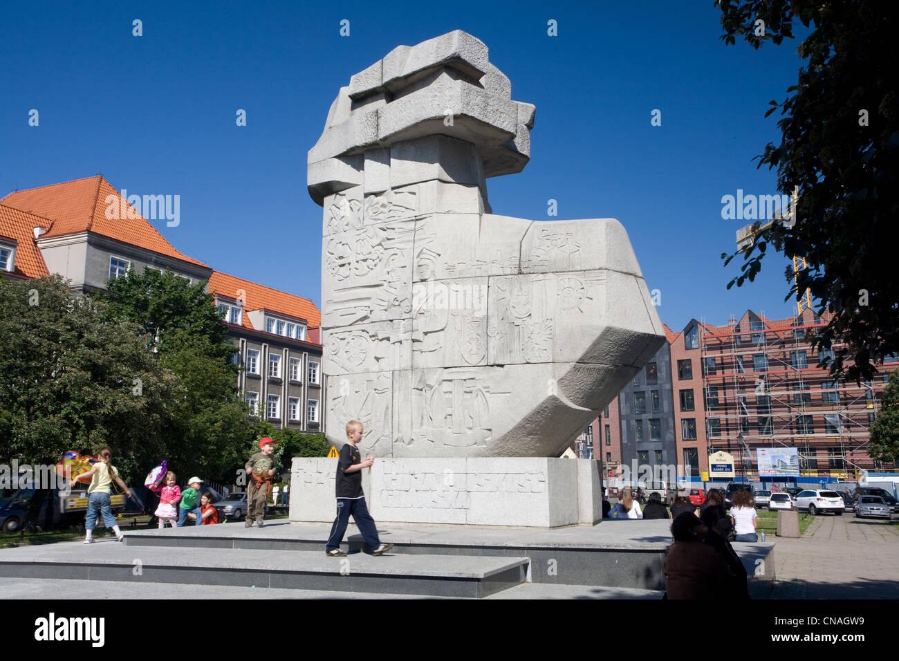 Poland, Eastern Pomerania, Gdansk, Tym co za Polskosc Gdanska Memorial honoring the city defenders during the nd - Stock Image