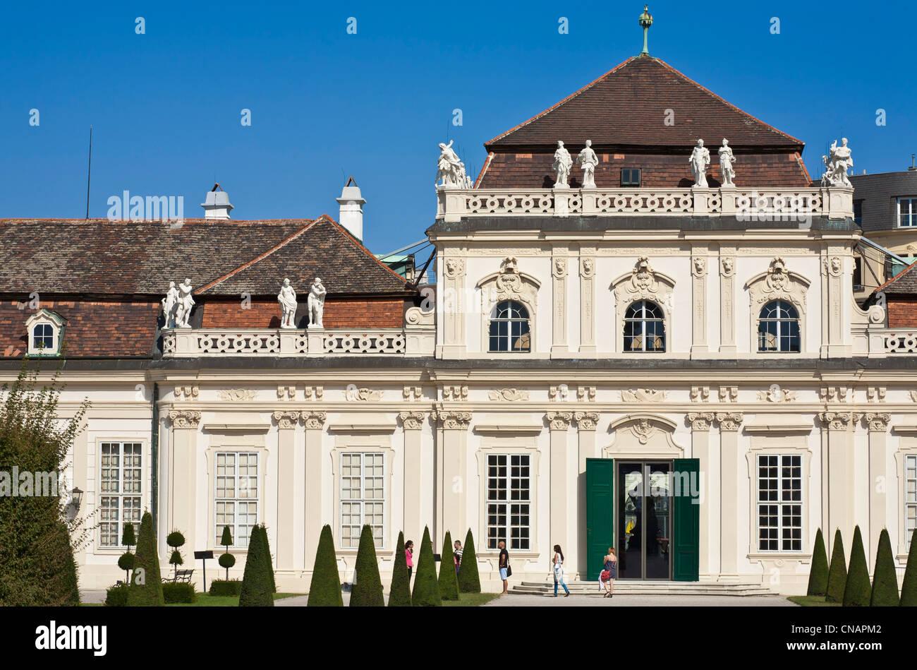 Austria, Vienna, Belvedere Palace, Baroque style, built by Johann Lukas von Hildebrandt in the early 18th century, - Stock Image