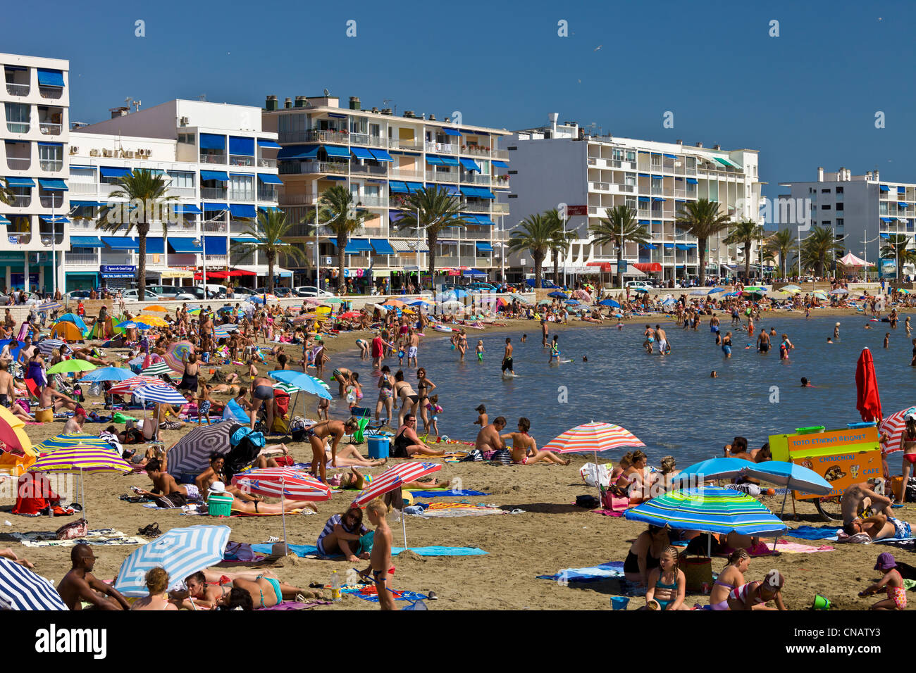 France, Gard, Camargue, Le Grau du Roi, the beach - Stock Image