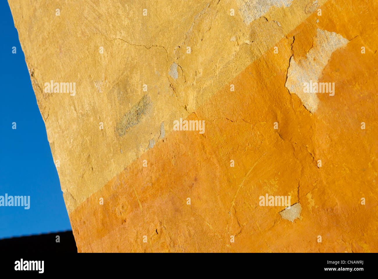 WORN NYBODER WALL - Stock Image