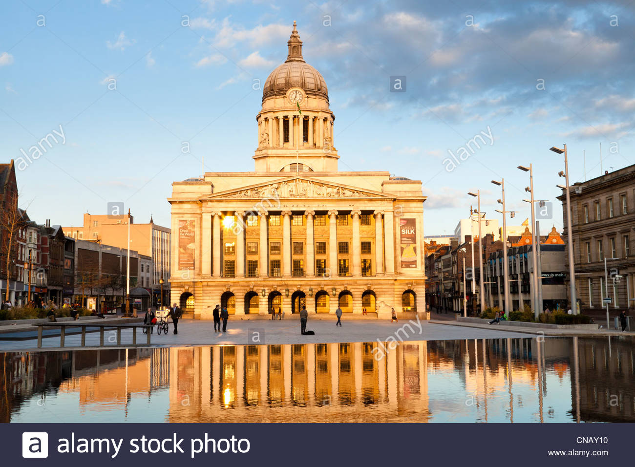 The Council House seen from across The Old Market Square, Nottingham, England, UK. - Stock Image