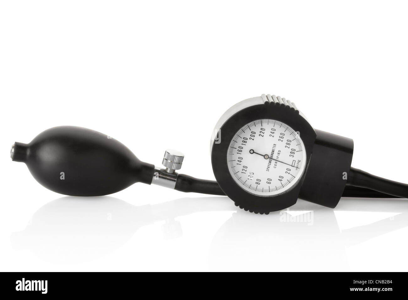 Sphygmomanometer, blood pressure medical instrument - Stock Image