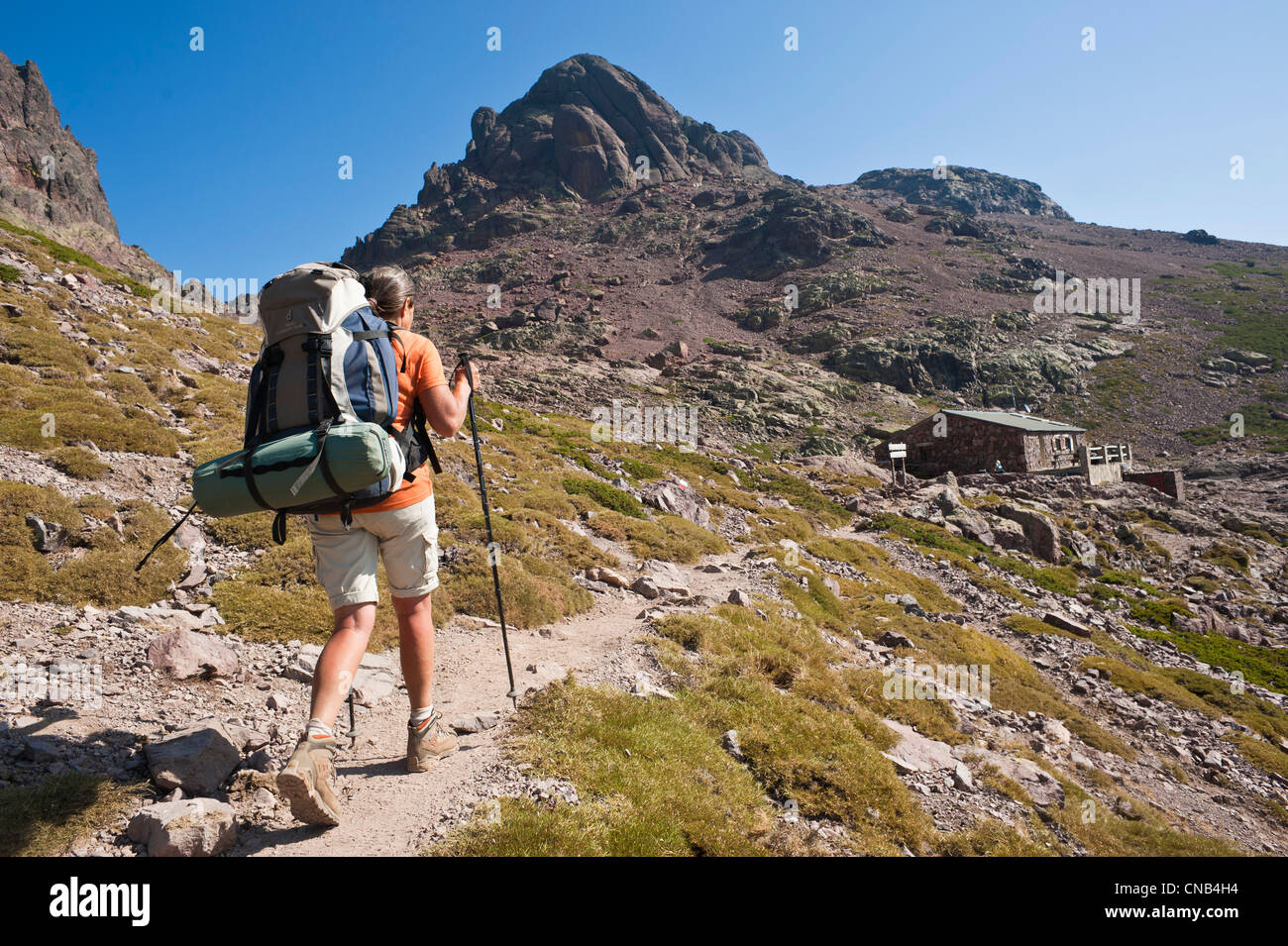 France Haute Corse Hiking On The GR 20 Between Castel Di Verghio And