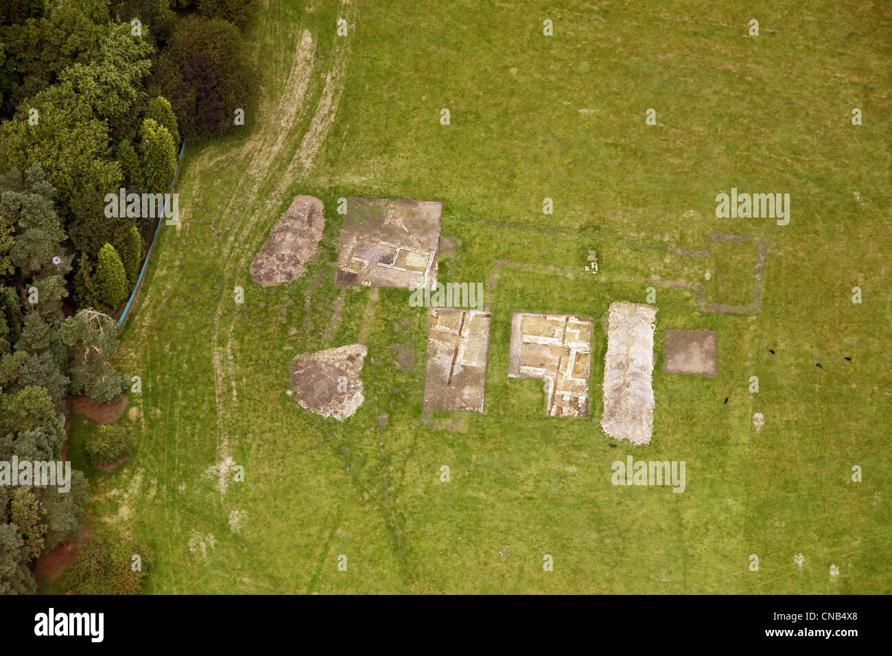 aerial view of a archeology dig - Stock Image