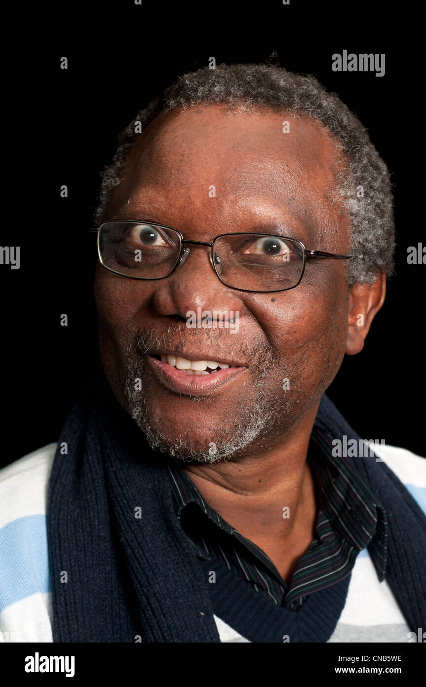 Poet and former prisoner of conscience Jack Mapanje , from Malawi - Stock Image