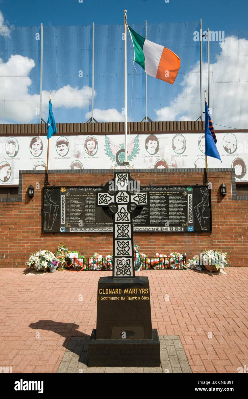 United Kingdom, Northern Ireland, Belfast, catholic western district of Falls, memorial of the martyrs of Clonard - Stock Image