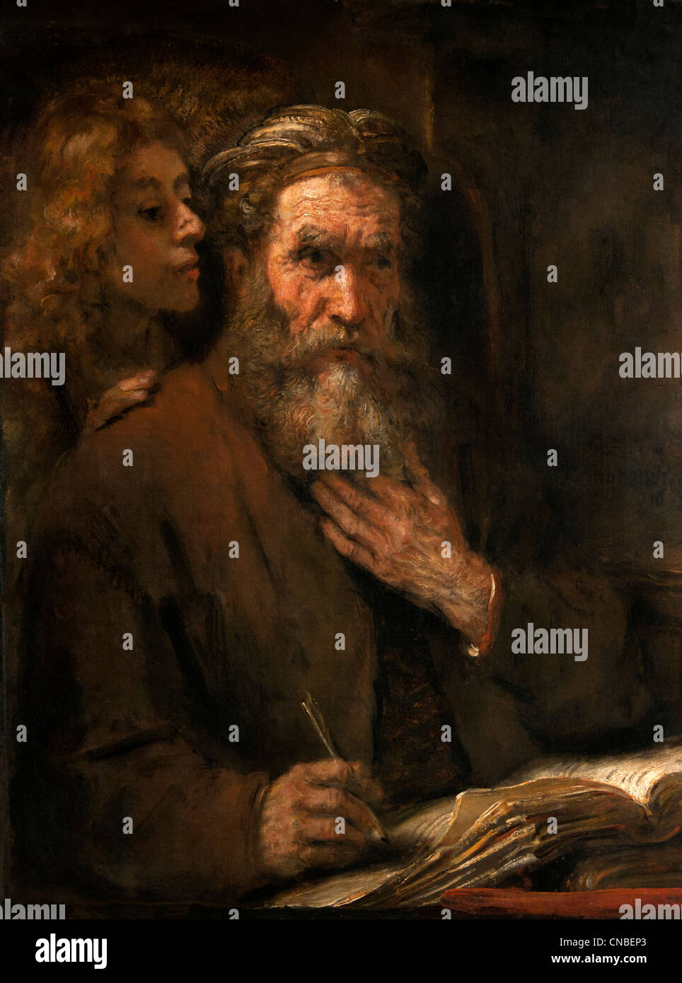 Rembrandt Harmensz. van Rijn Dutch 1606–1669) Saint MATTHEW and the Angel 1661 Netherlands Stock Photo