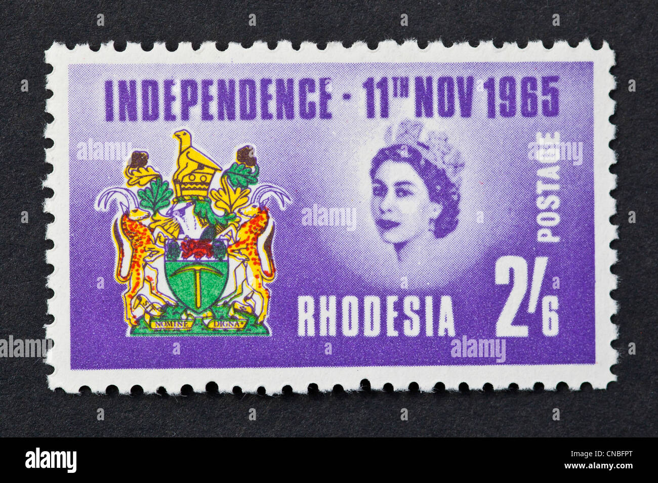 Rhodesia Independence stamp - Stock Image