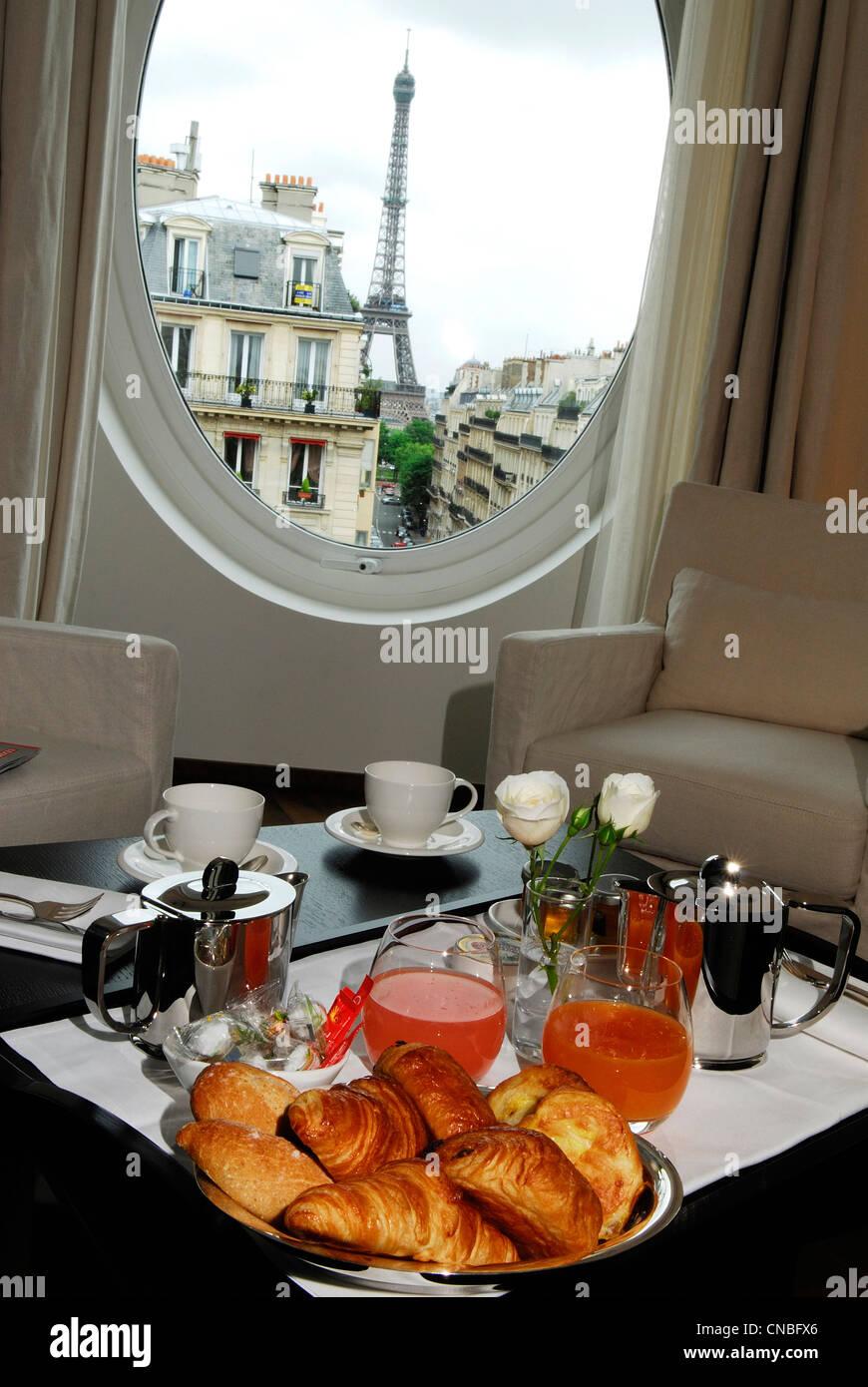 France, Paris, Metropolitan Paris Champs Elysees Hotel, 86 Rue de Longchamp - Stock Image