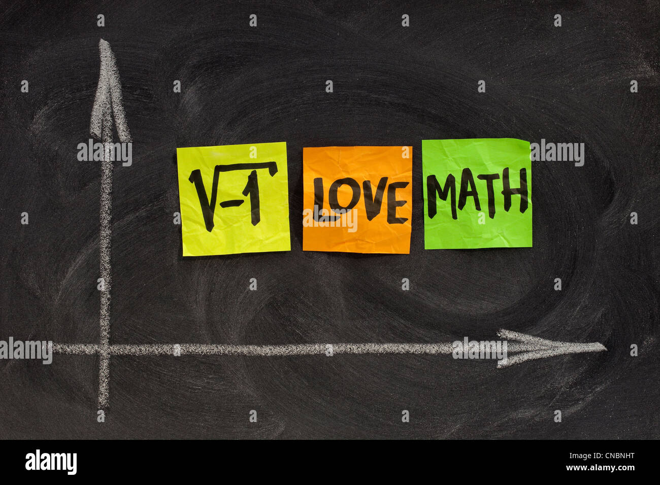 square root of negative number - i love math concept, colorful
