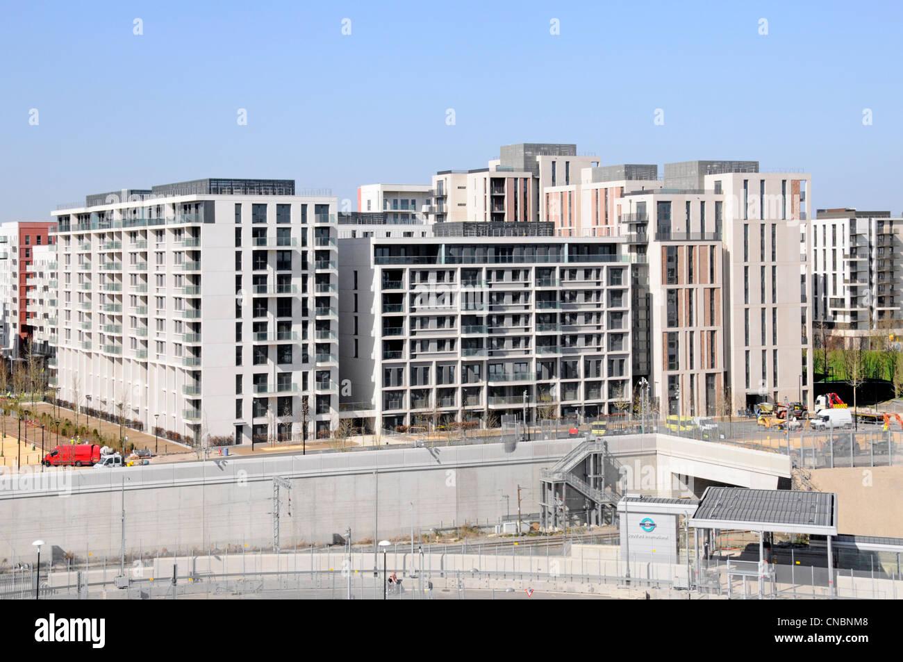 London 2012 Olympic athletes village nearing completion - Stock Image