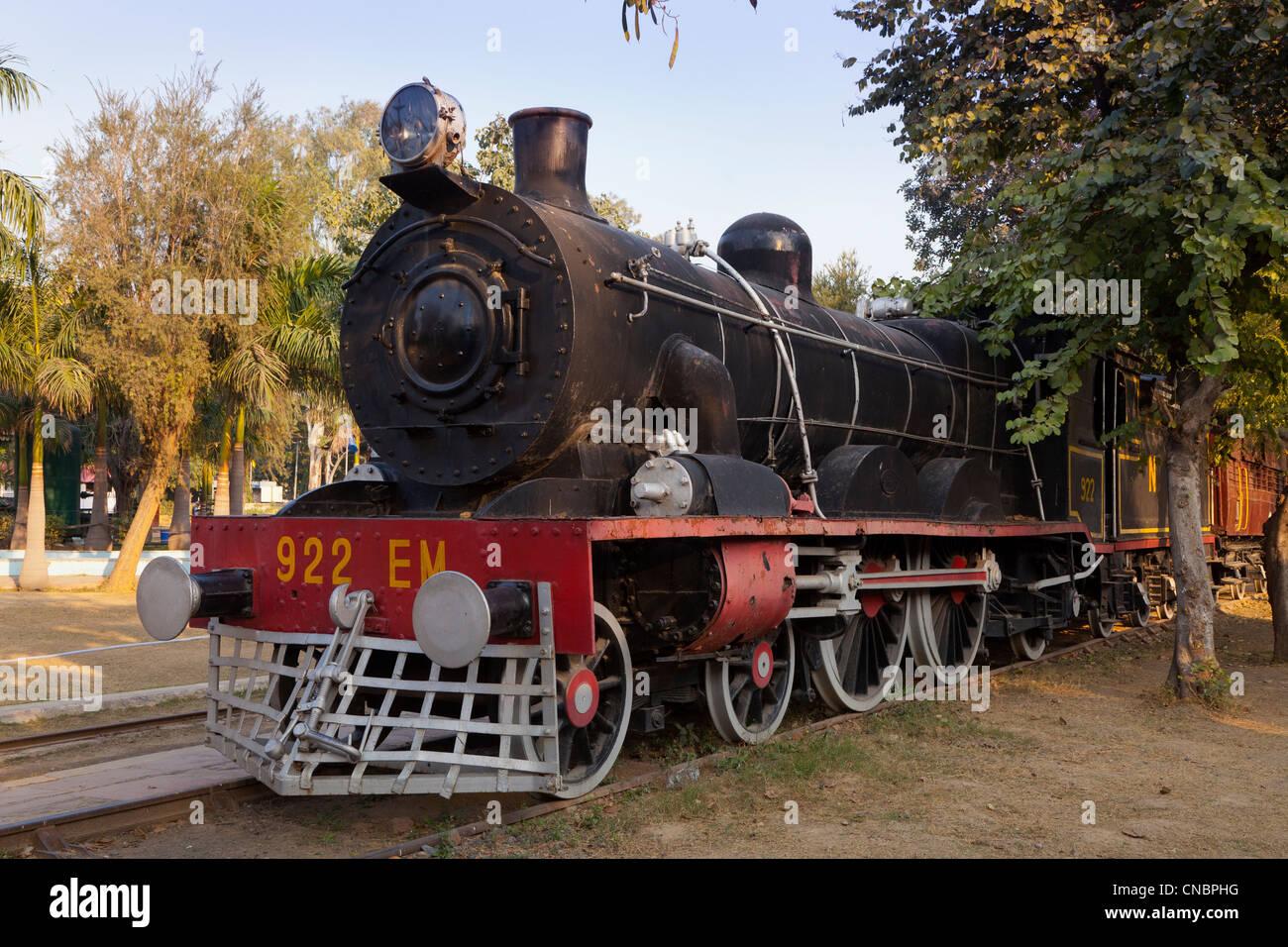 India, Uttar Pradesh, New Delhi, Railway Museum, Steam Locomotive - Stock Image