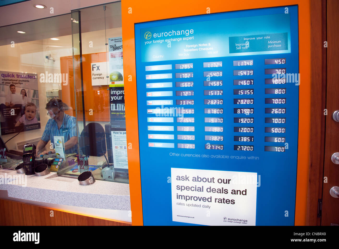 eurochange money exchange shop in victoria centre grimsby town stock photo 47588744 alamy. Black Bedroom Furniture Sets. Home Design Ideas