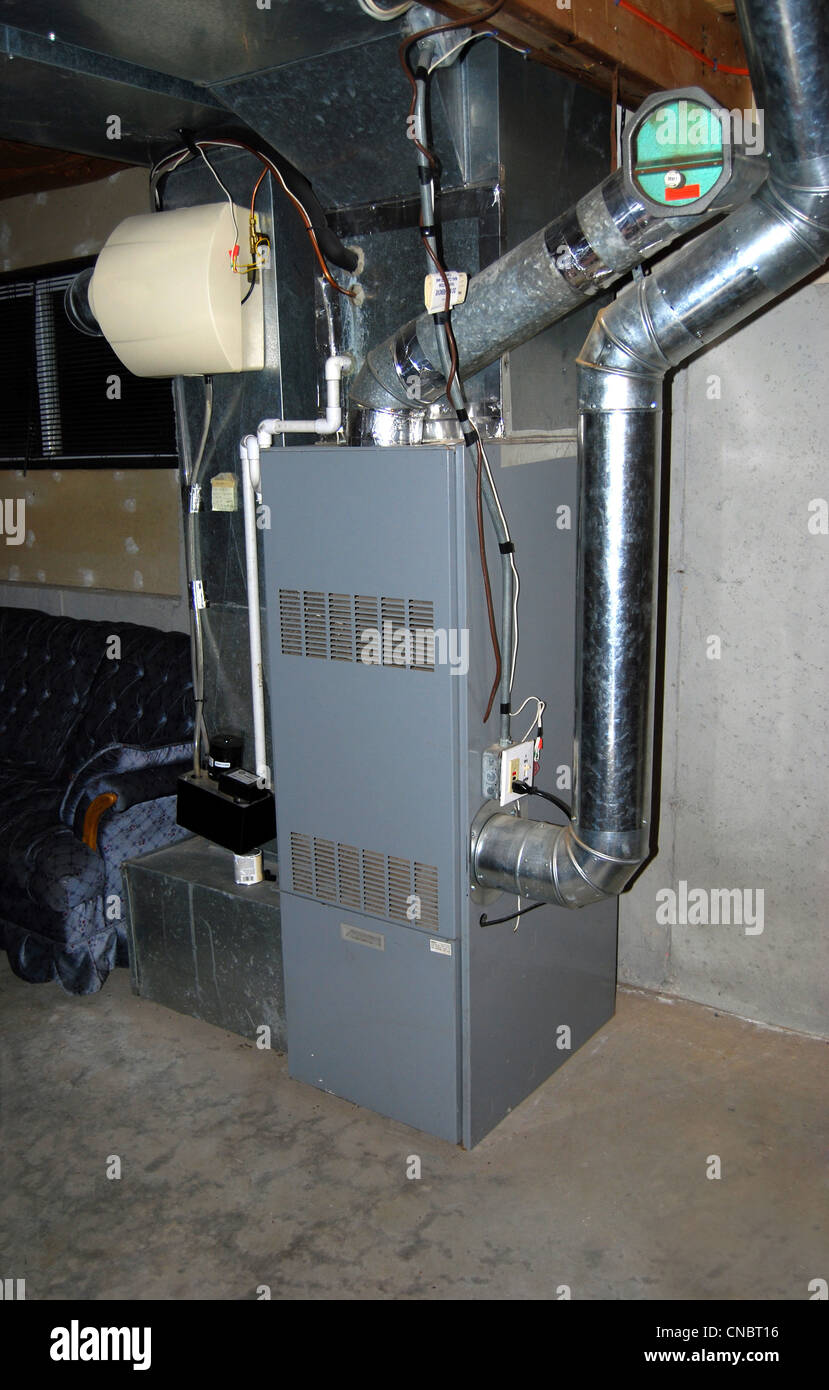 A Residential Oil Furnace   Forced Hot Air With Central Air Conditioning  And An In Line Humidifier As Well.