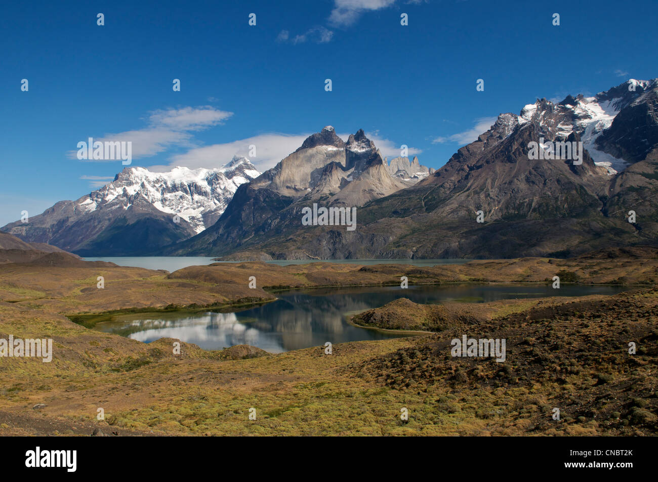 Lago Nordenskjold Torres del Paine National Park Patagonia Chile - Stock Image